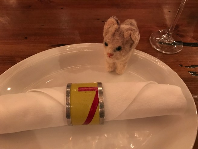 Frankie  checked out the napkin rings