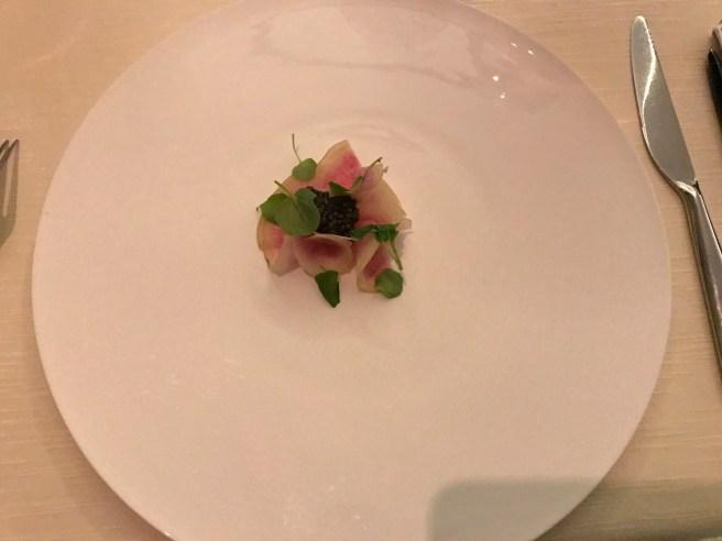 radish and caviar