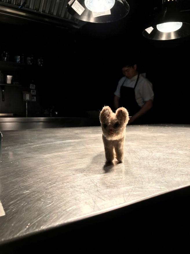 Frankie visited the kitchen