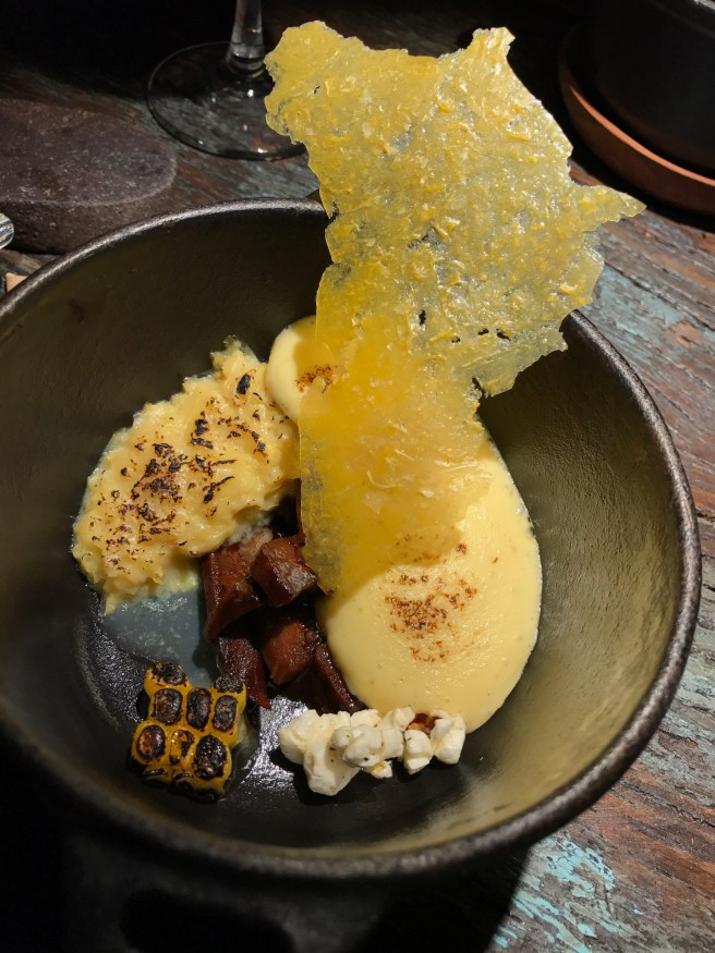 corn pie with beef tongue