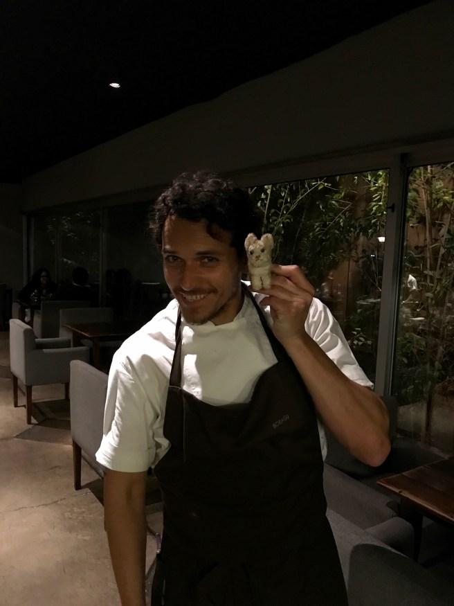 Chef Rodolfo Guzmán and Frankie