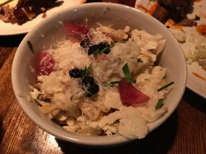 Cauliflower with pecorino spaetzle