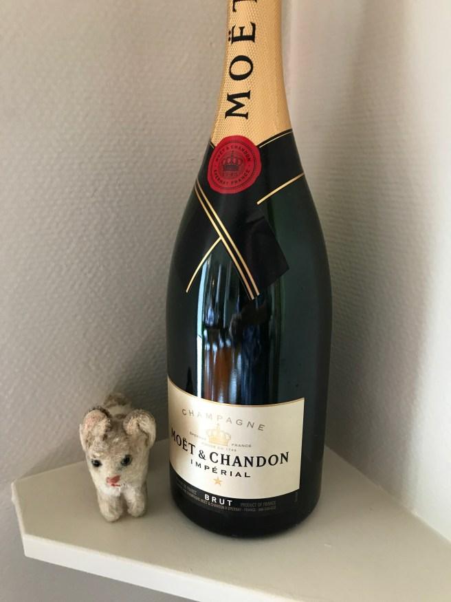 Frankie found champagne