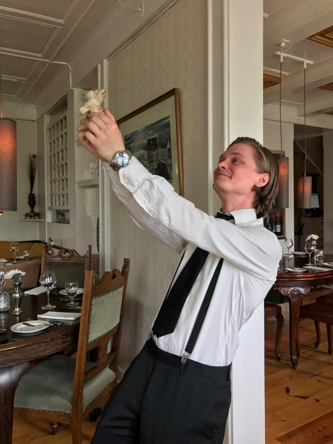 Great waiter Stefan Olafson and Frankie