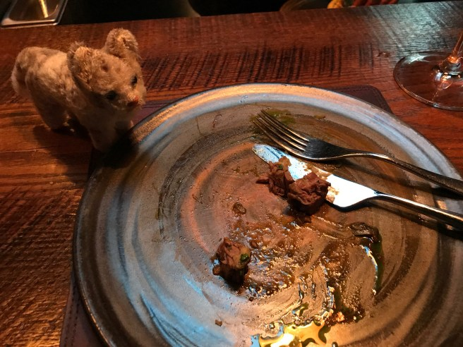 Frankie checked for leftovers