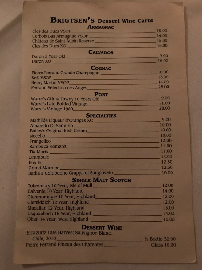 After dinner drink menu 1