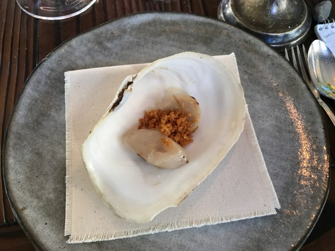 Grilled geoduck clam