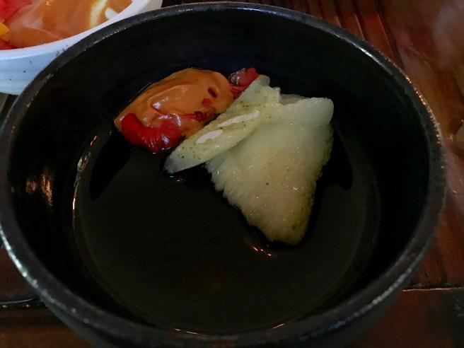 Roasted costata zucchini and nastrutium