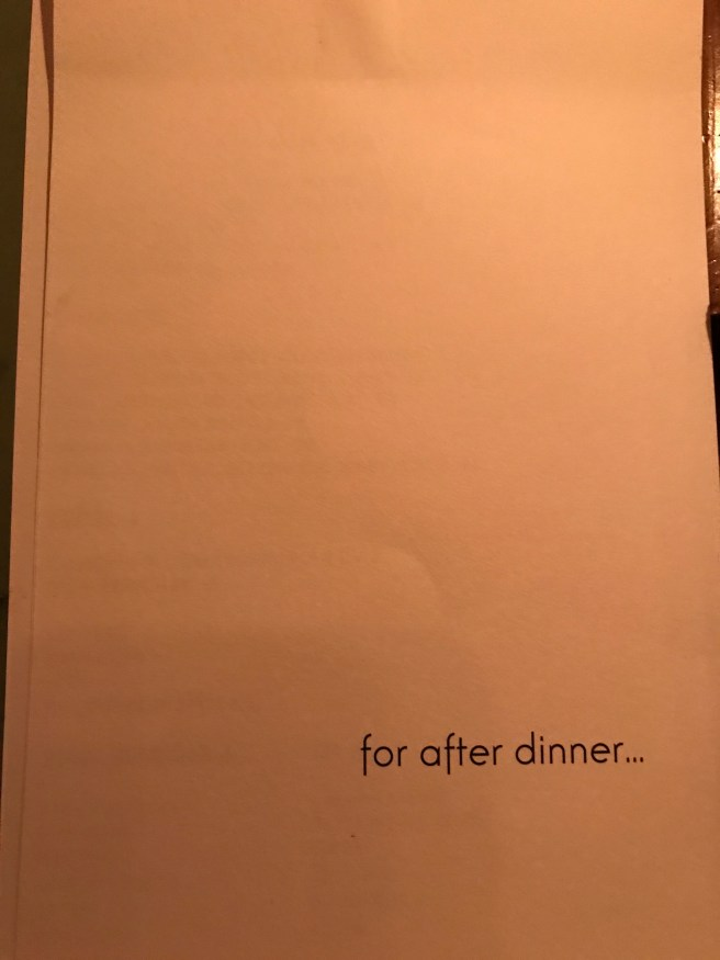 after dinner drink menu