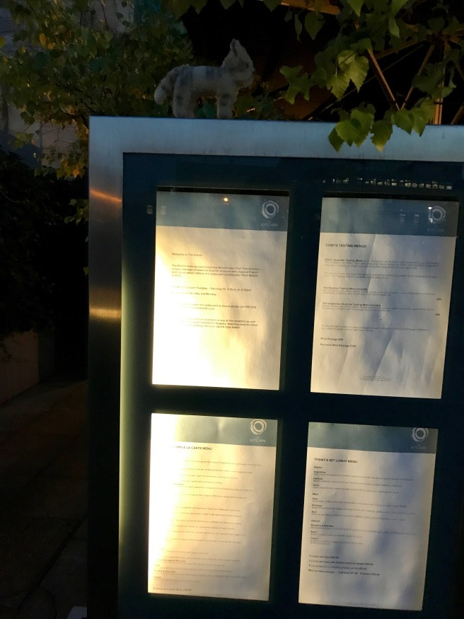 Frankie looked over the menus outside
