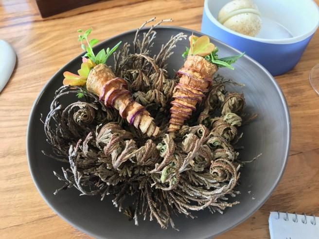 Cabbage, parsley and garlic
