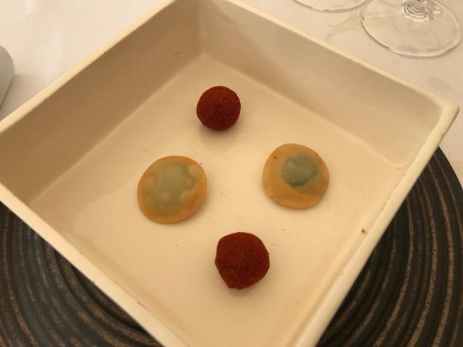fish ball with paprika;