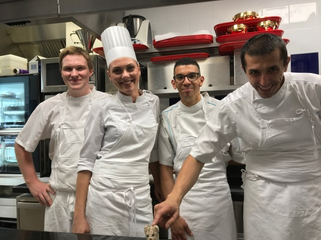 The pastry chef crew met Frankie