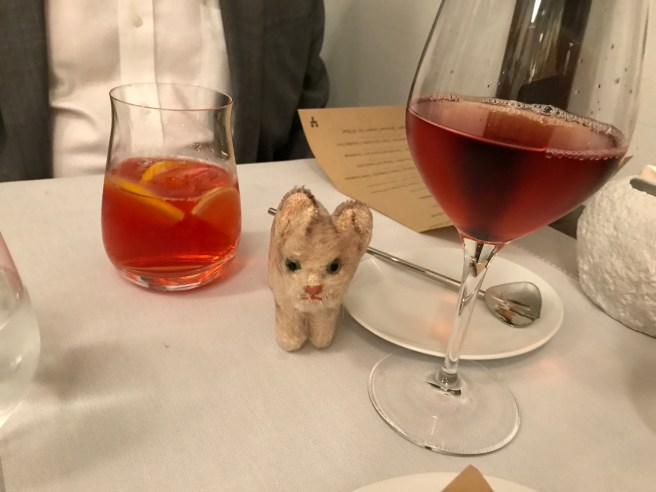 Frankie enjoyed a cocktail