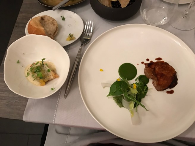 Veal from Piémont/ Sour herbs and green curry/ sweetbread