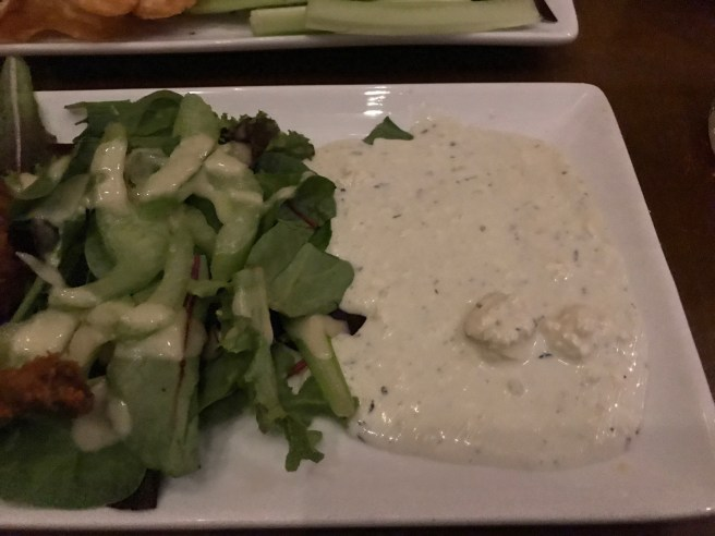 salad and dip