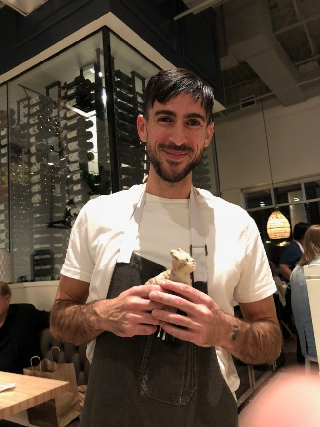 Nice waiter Andrew and Frankie