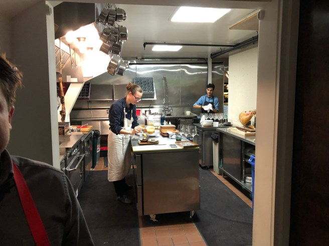 Chef shows his kitchen