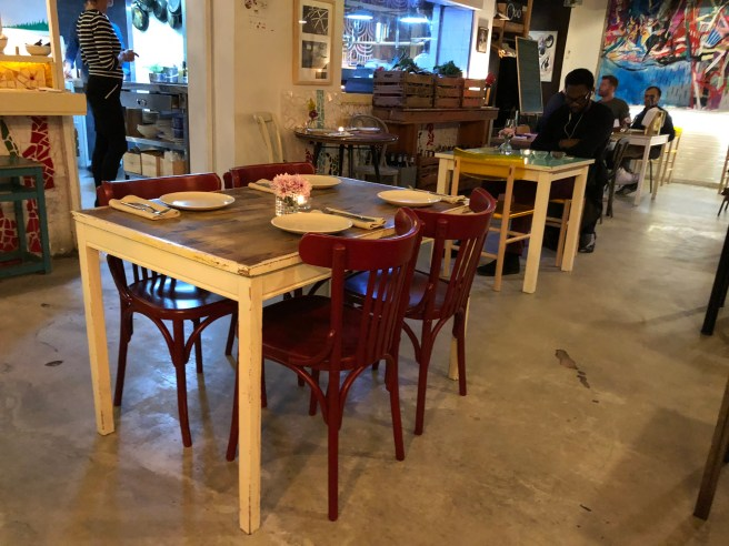 variety of tables and chairs