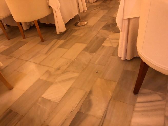 marble floor