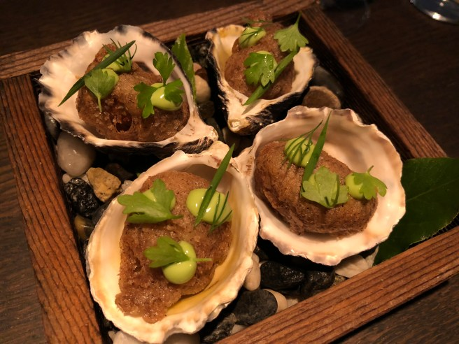 Pacific oyster, buckwheat and bay laurel