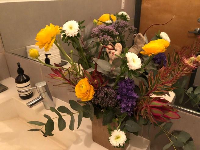 Frankie found a lovely flower arrangement