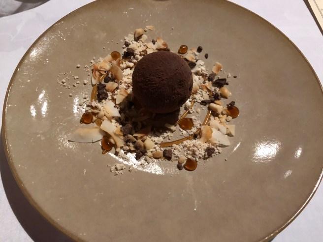 Coconut mousse, Caraïbe chocolate and Kona coffee