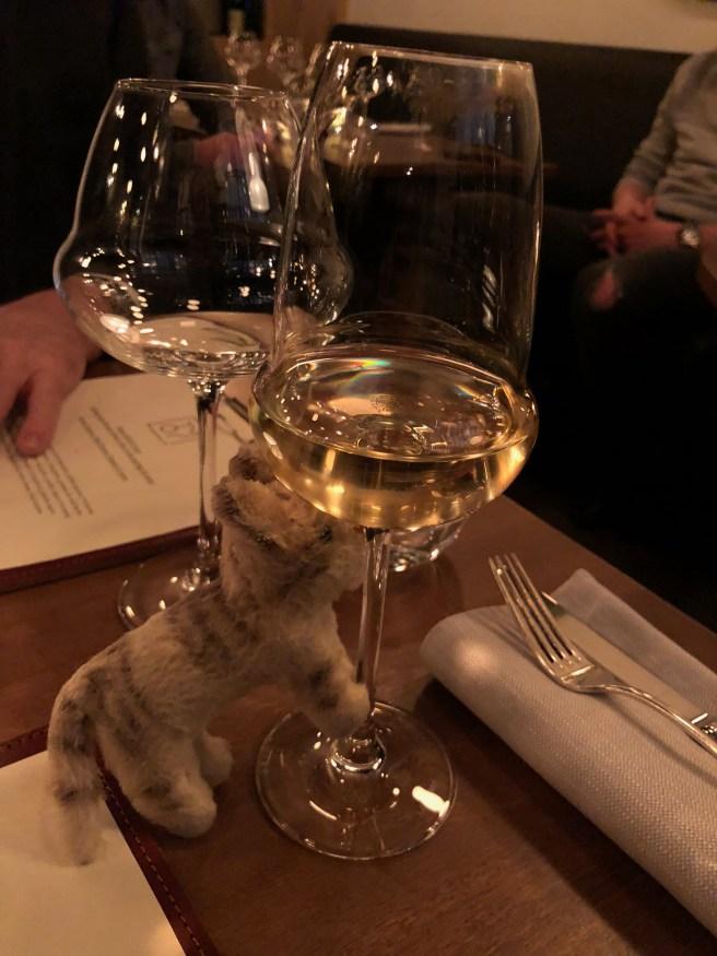Frankie studied the glassware