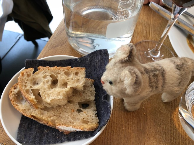 Frankie checked out the bread