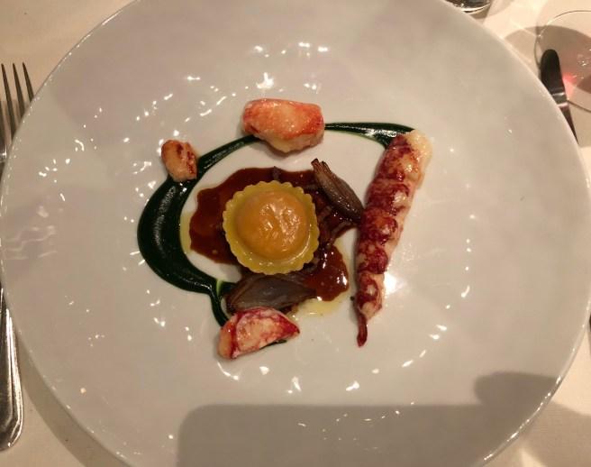 lobster and ravioli