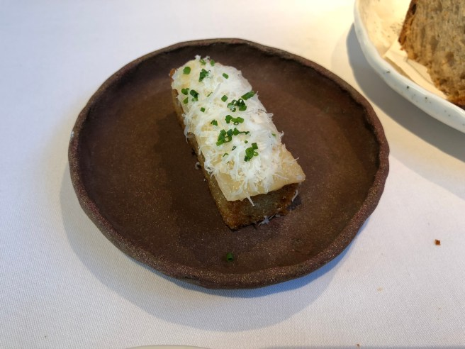 Aged beef fat on toast