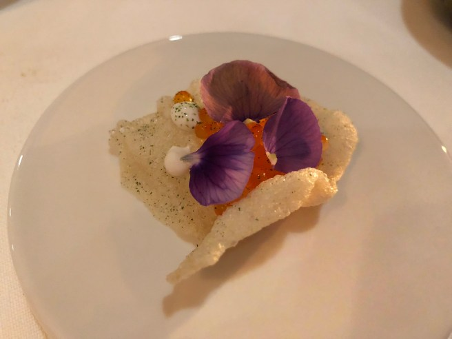 Native oyster and trout roe