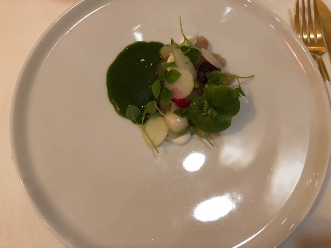 Radishes, mackerel, sorrel