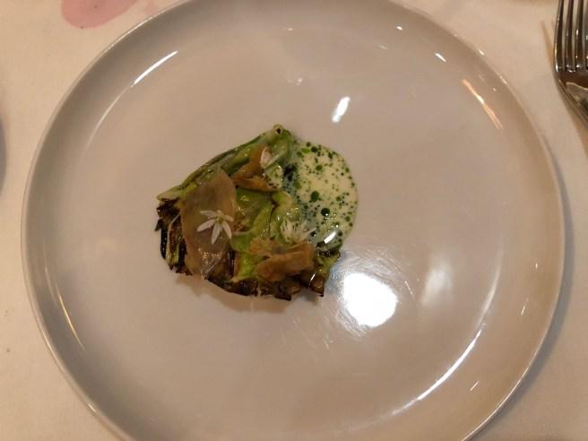 Cabbage, crab, horseradish, chicken