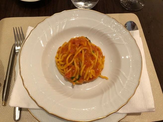 Pasta al Pomodoro, chef's signature ragu