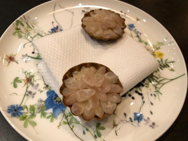 Razor clam/ Leek, Nori