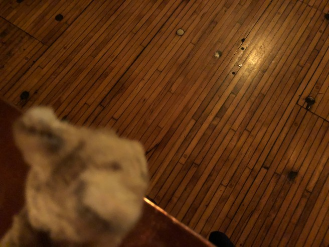 Grankie studied the narrow floor boards