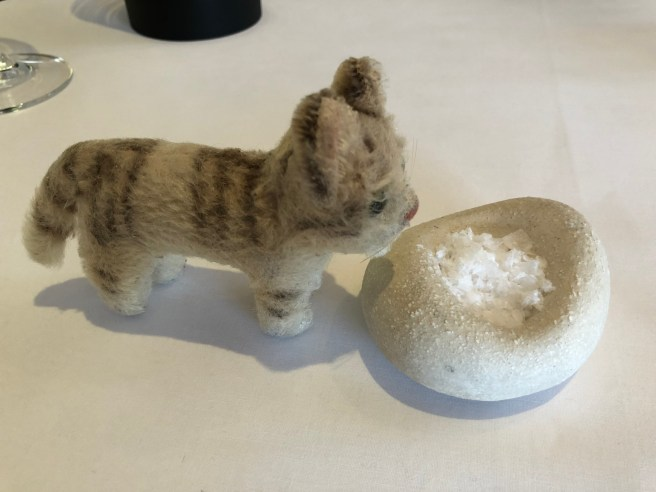 Frankie liked the size of the salt bowl
