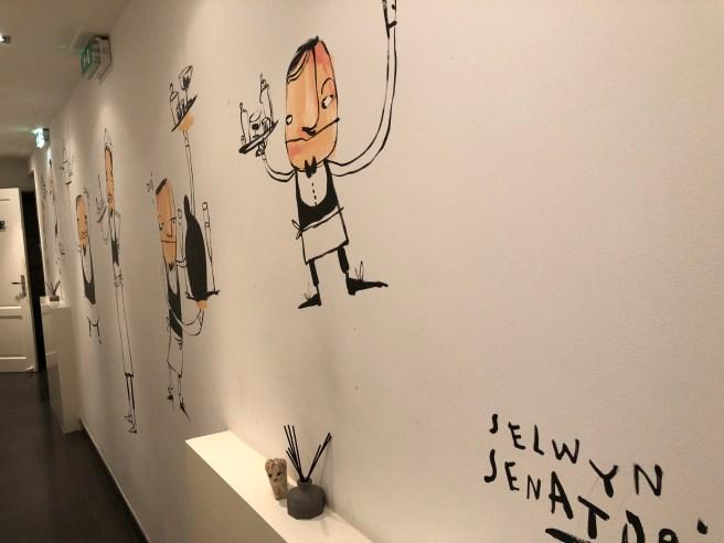 Frankie found a wall by the same artist