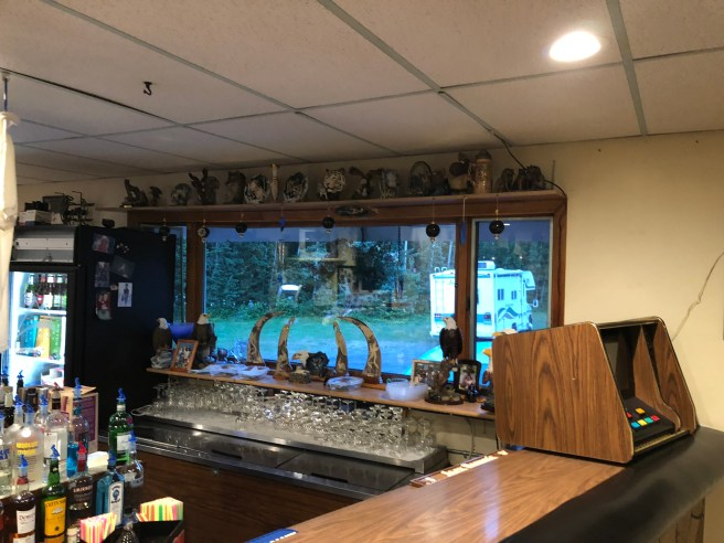 bar and decorations