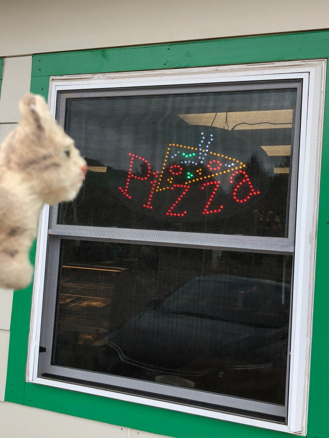 Frankie noticed the sign in the window