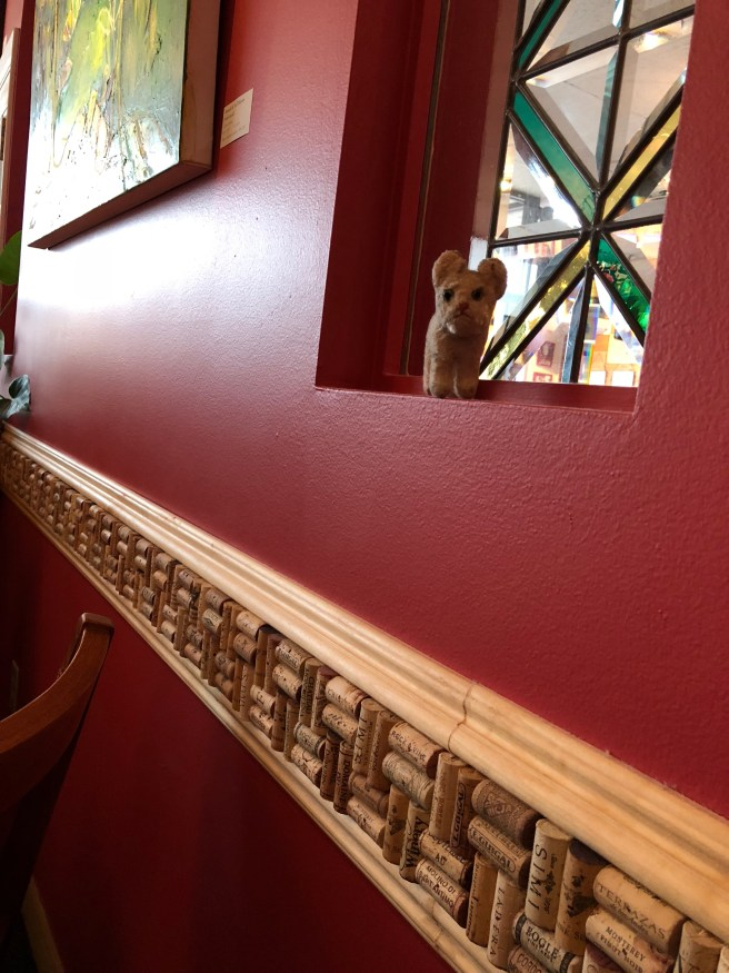 Frankie liked the wine cork wall piece