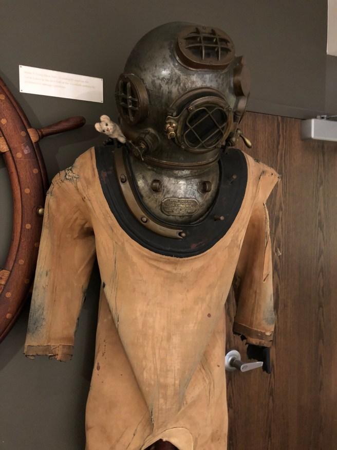 Frankie explored the dive suit