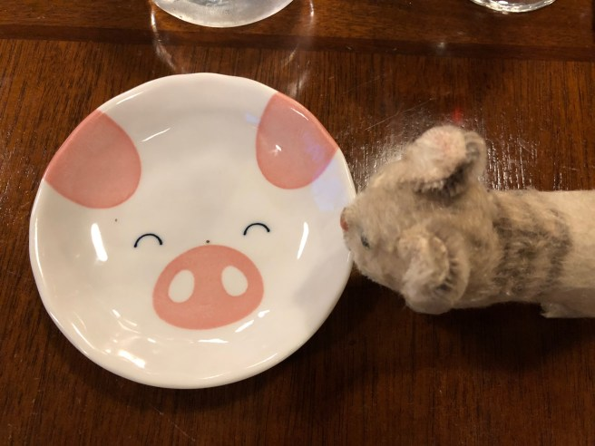 Frankie liked the extra plate they brought for our bread