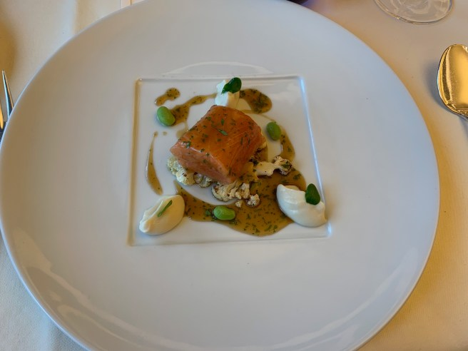 Scottish Salmon/ Cauliflower/ Soy-Coriander Sauce
