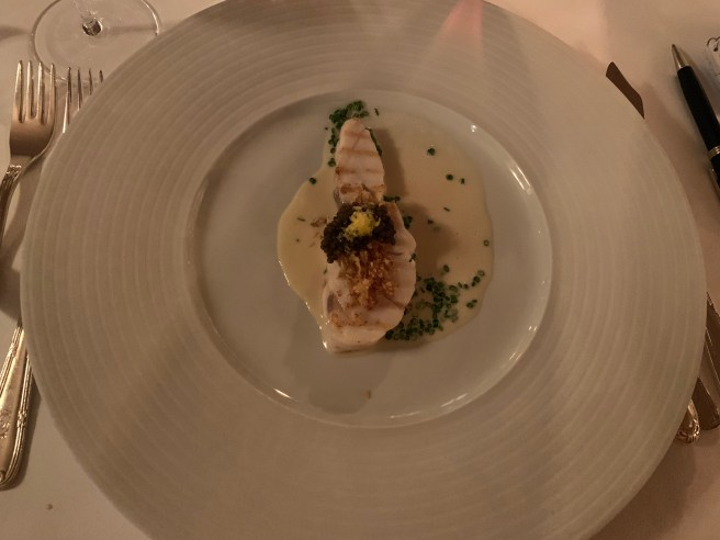 Sea bass, Cauliflower, N25 caviar and chives
