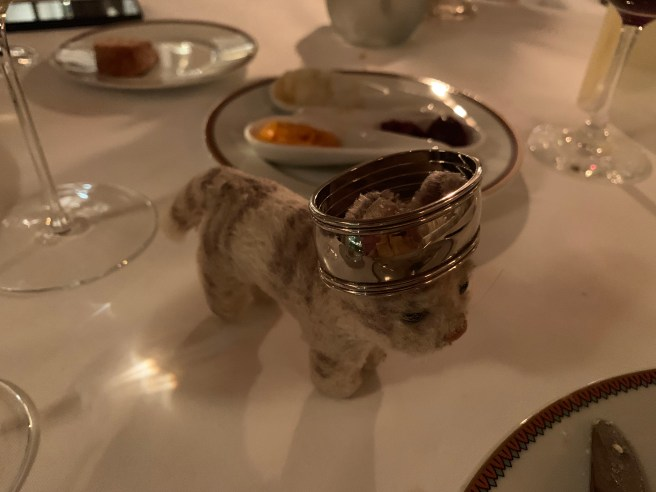 Frankie played with the napkin ring