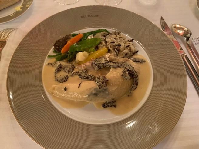 """Bresse chicken cooked in a bladder """"á la Mere Fillioux"""""""