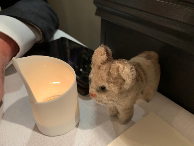 Frankie and the table candle