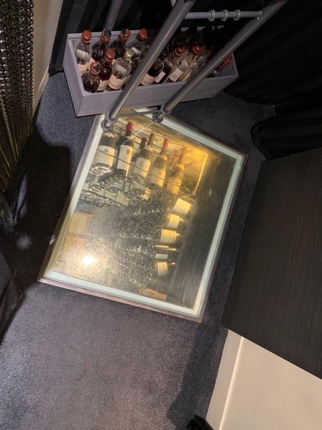 wine cellar in the floor